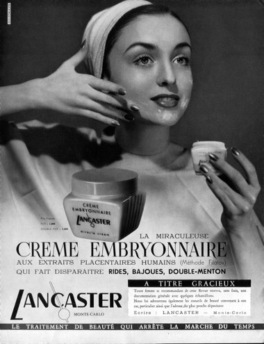 Méhlepény és magzatvíz a kozmetikumokban
